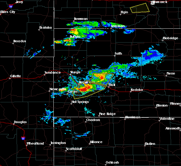 Radar Image for Severe Thunderstorms near Fairburn, SD at 7/10/2020 5:25 PM MDT