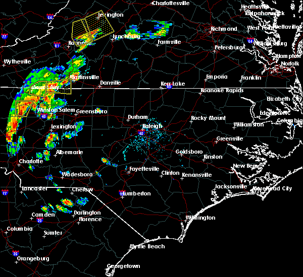 Radar Image for Severe Thunderstorms near Southmont, NC at 7/10/2020 7:27 PM EDT