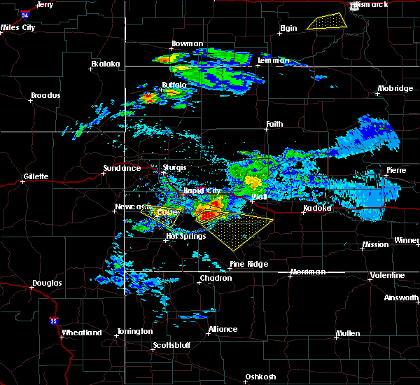 Radar Image for Severe Thunderstorms near Custer, SD at 7/10/2020 5:40 PM MDT