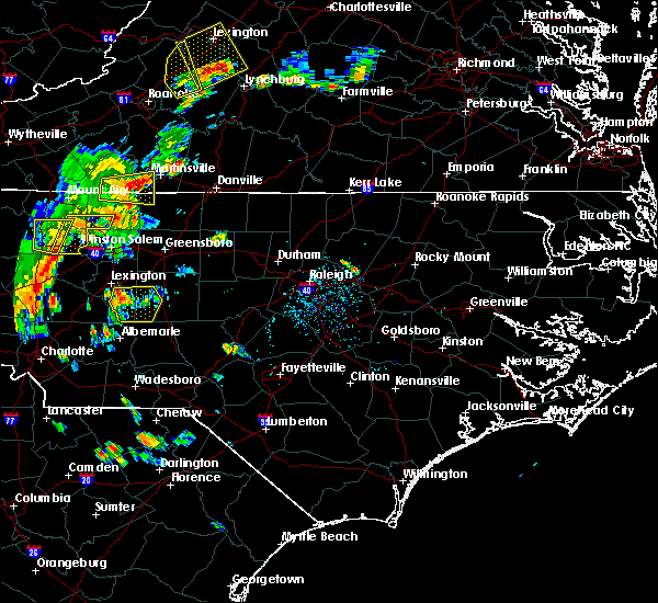Radar Image for Severe Thunderstorms near Southmont, NC at 7/10/2020 7:42 PM EDT