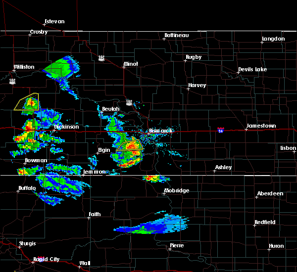 Radar Image for Severe Thunderstorms near Dickinson, ND at 7/10/2020 5:46 PM MDT