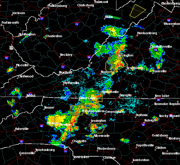 Radar Image for Severe Thunderstorms near Stoneville, NC at 7/10/2020 7:48 PM EDT