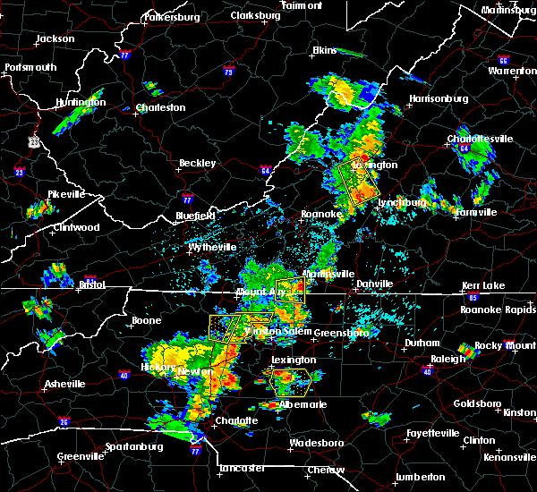 Radar Image for Severe Thunderstorms near Sandy Level, VA at 7/10/2020 7:58 PM EDT