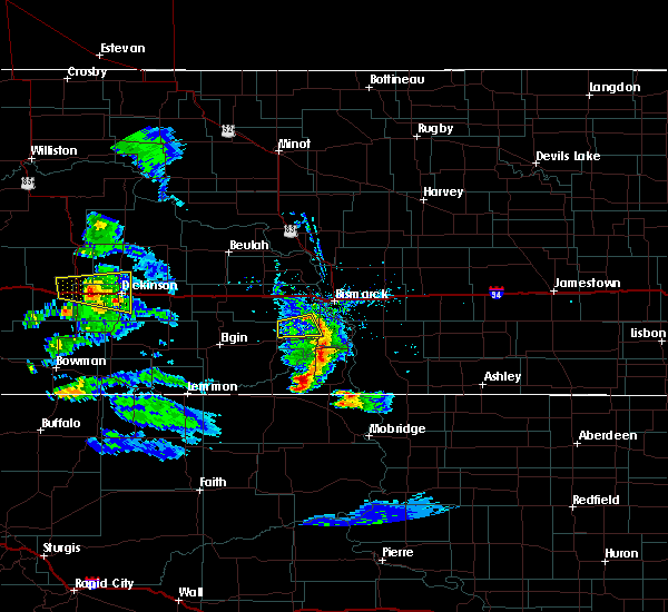 Radar Image for Severe Thunderstorms near Dickinson, ND at 7/10/2020 6:05 PM MDT