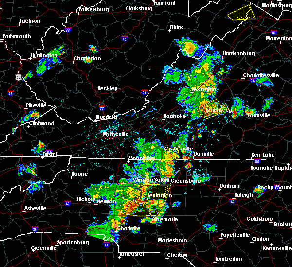 Radar Image for Severe Thunderstorms near Winston-Salem, NC at 7/10/2020 8:21 PM EDT