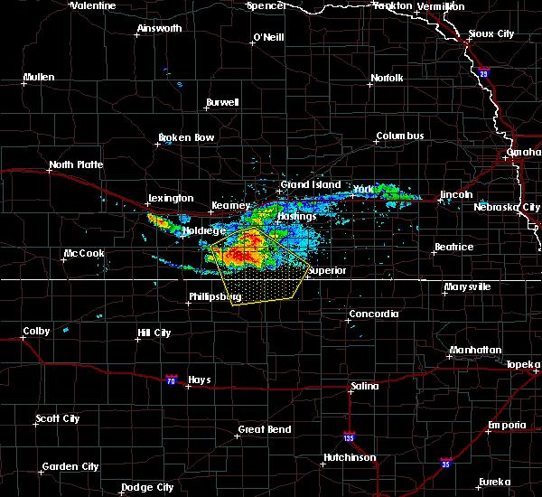 Radar Image for Severe Thunderstorms near Esbon, KS at 7/10/2020 7:27 PM CDT