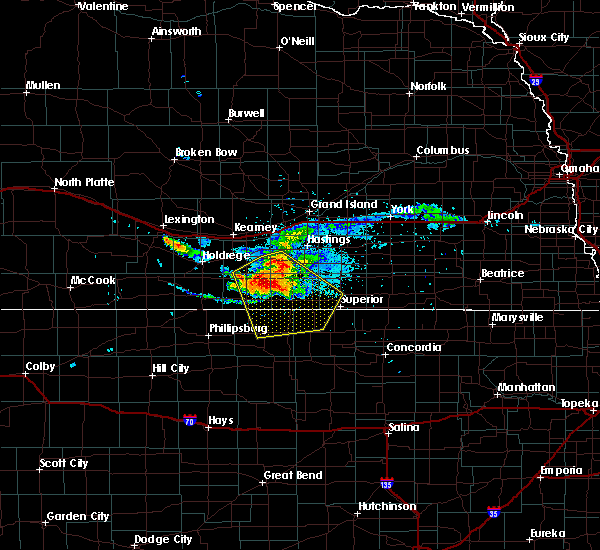 Radar Image for Severe Thunderstorms near Cowles, NE at 7/10/2020 7:27 PM CDT