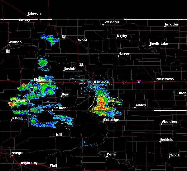 Radar Image for Severe Thunderstorms near Fort Yates, ND at 7/10/2020 7:35 PM CDT