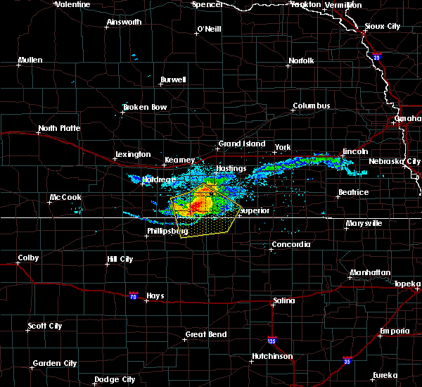 Radar Image for Severe Thunderstorms near Cowles, NE at 7/10/2020 7:38 PM CDT