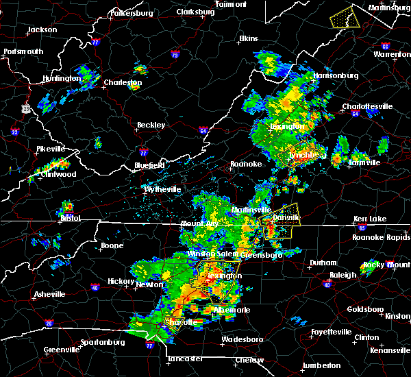 Radar Image for Severe Thunderstorms near Winston-Salem, NC at 7/10/2020 8:39 PM EDT