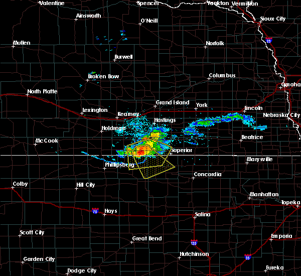 Radar Image for Severe Thunderstorms near Mankato, KS at 7/10/2020 7:45 PM CDT