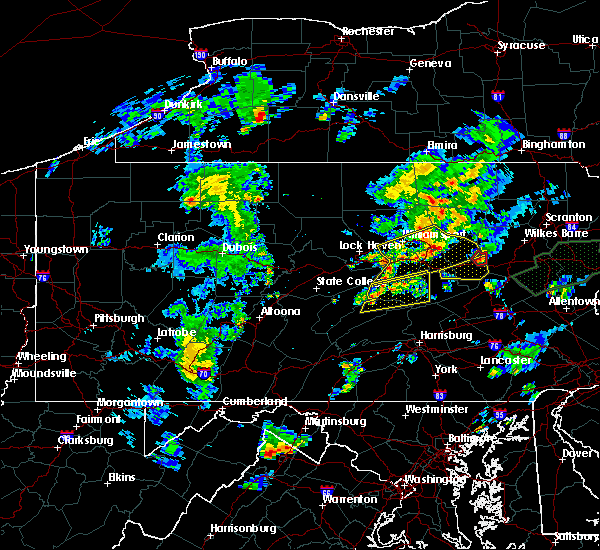 Radar Image for Severe Thunderstorms near Williamsport, PA at 6/30/2015 9:07 PM EDT
