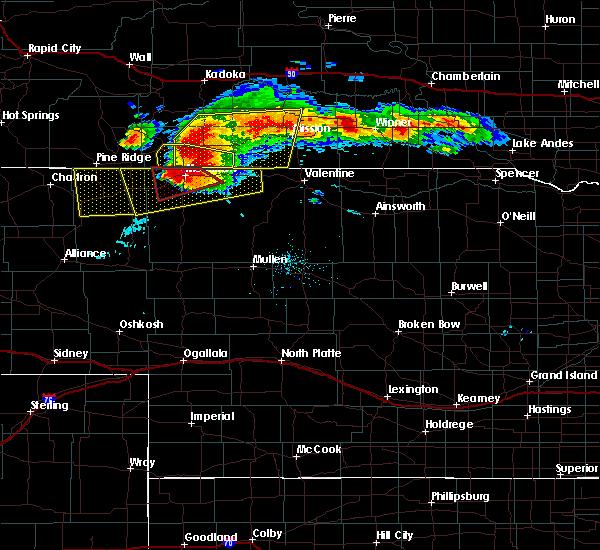 Radar Image for Severe Thunderstorms near Gordon, NE at 7/10/2020 7:28 PM MDT