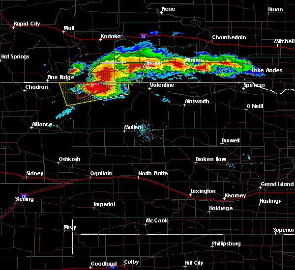 Radar Image for Severe Thunderstorms near Mission, SD at 7/10/2020 8:42 PM CDT