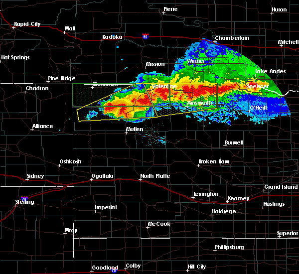 Radar Image for Severe Thunderstorms near Brownlee, NE at 7/10/2020 8:49 PM MDT