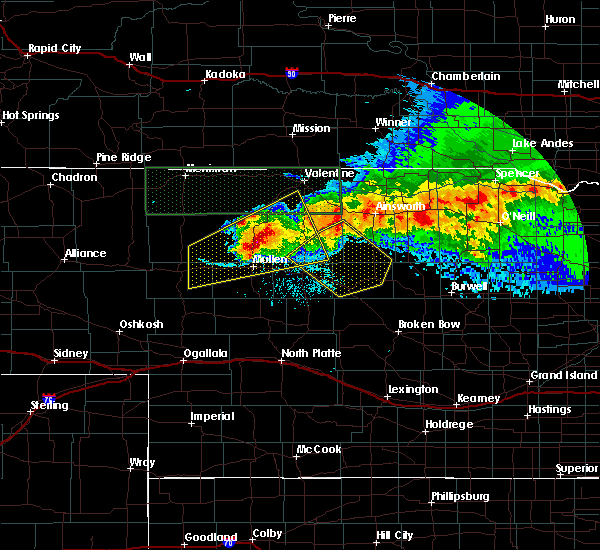 Radar Image for Severe Thunderstorms near Brownlee, NE at 7/10/2020 9:19 PM MDT