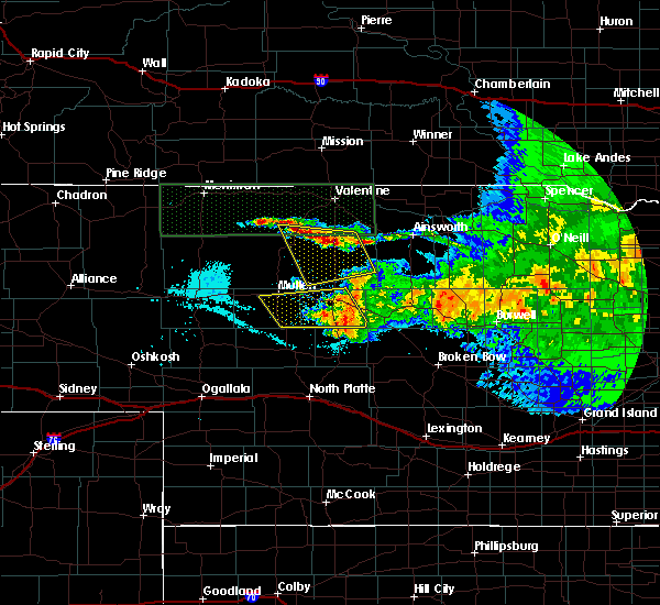 Radar Image for Severe Thunderstorms near Brownlee, NE at 7/10/2020 11:14 PM CDT