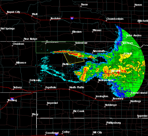 Radar Image for Severe Thunderstorms near Brownlee, NE at 7/10/2020 11:35 PM CDT
