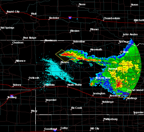 Radar Image for Severe Thunderstorms near Brownlee, NE at 7/10/2020 11:25 PM MDT