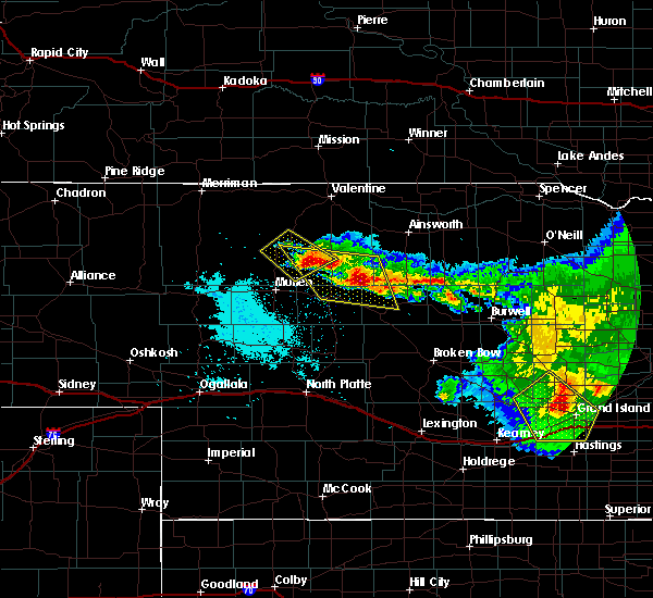 Radar Image for Severe Thunderstorms near Brownlee, NE at 7/11/2020 12:42 AM CDT