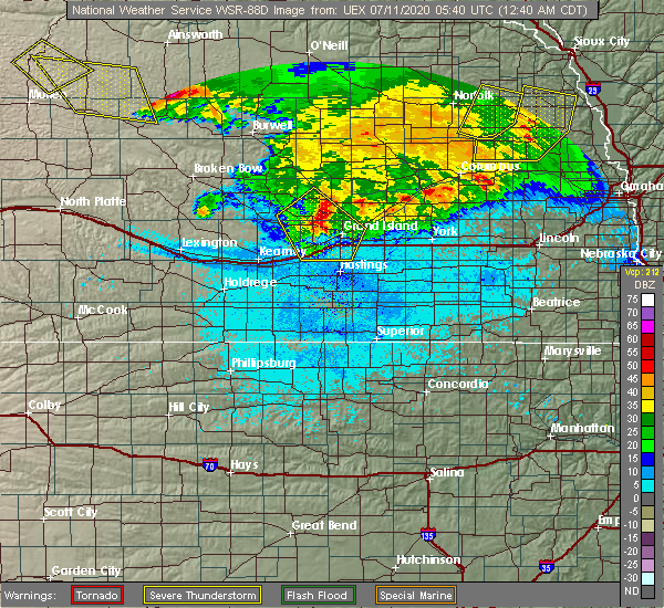 Radar Image for Severe Thunderstorms near Lushton, NE at 7/11/2020 12:44 AM CDT