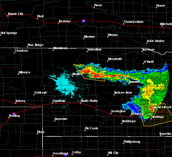 Radar Image for Severe Thunderstorms near Brownlee, NE at 7/11/2020 1:01 AM CDT