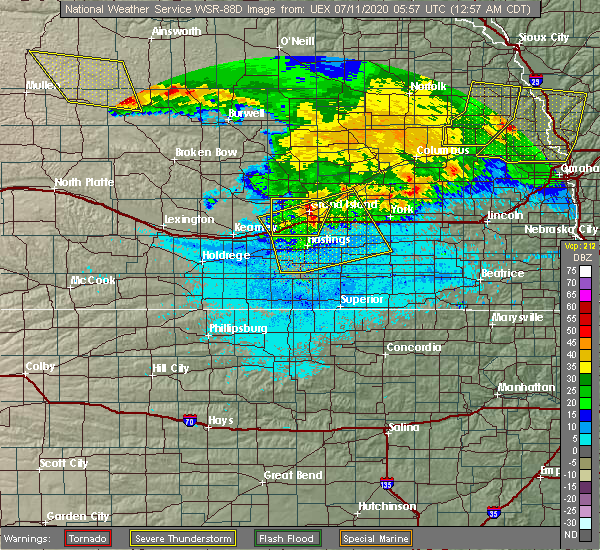 Radar Image for Severe Thunderstorms near Lushton, NE at 7/11/2020 1:01 AM CDT