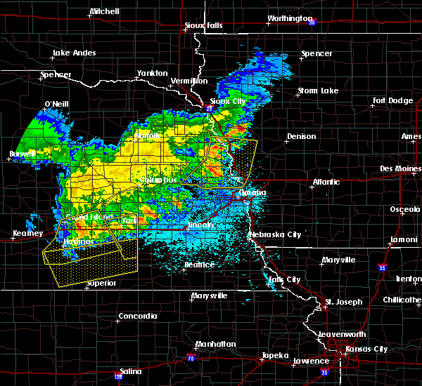 Radar Image for Severe Thunderstorms near Washington, NE at 7/11/2020 1:19 AM CDT