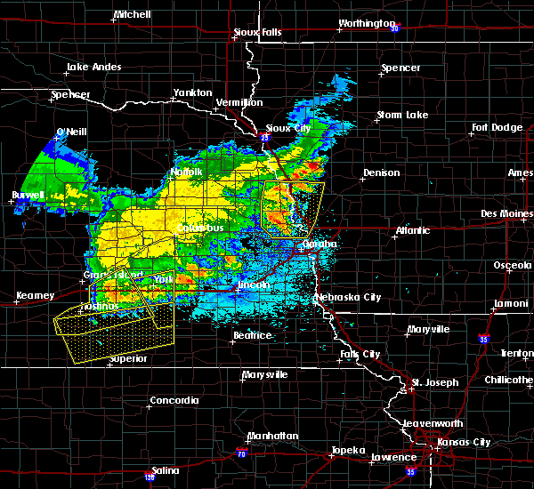 Radar Image for Severe Thunderstorms near Washington, NE at 7/11/2020 1:25 AM CDT