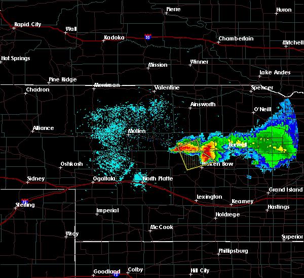 Radar Image for Severe Thunderstorms near Anselmo, NE at 7/11/2020 2:01 AM CDT