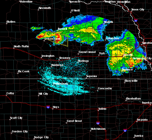 Radar Image for Severe Thunderstorms near Ord, NE at 7/11/2020 2:31 AM CDT