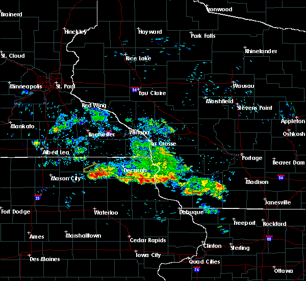 Radar Image for Severe Thunderstorms near Jackson Junction, IA at 7/11/2020 8:24 AM CDT