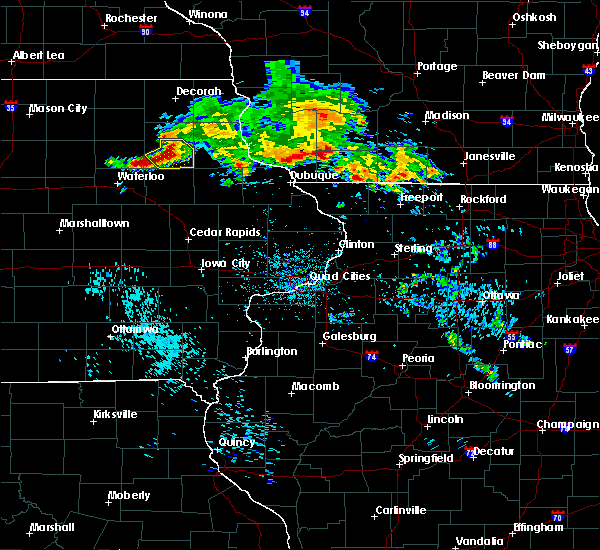 Radar Image for Severe Thunderstorms near Brandon, IA at 7/11/2020 9:20 AM CDT