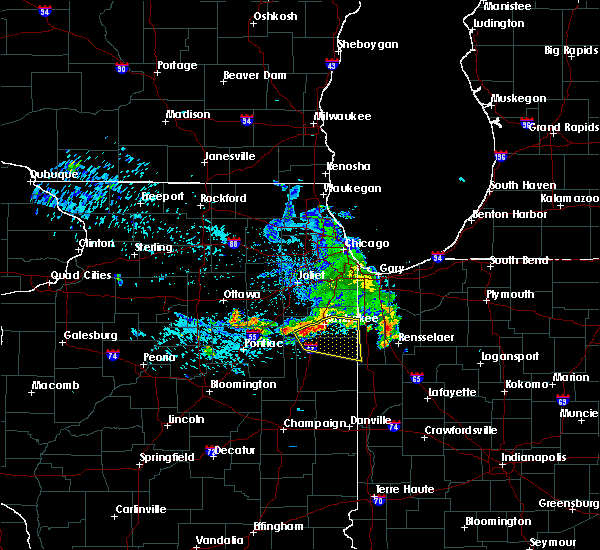 Radar Image for Severe Thunderstorms near Iroquois, IL at 7/11/2020 1:07 PM CDT