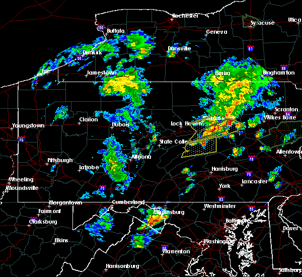 Radar Image for Severe Thunderstorms near Hummels Wharf, PA at 6/30/2015 9:35 PM EDT