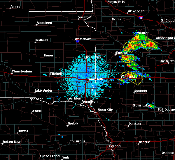 Radar Image for Severe Thunderstorms near Okabena, MN at 7/11/2020 1:44 PM CDT