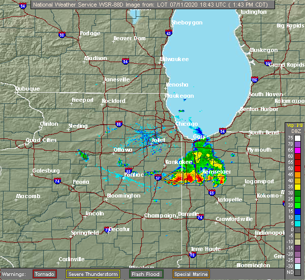 Radar Image for Severe Thunderstorms near Woodland, IL at 7/11/2020 2:47 PM EDT