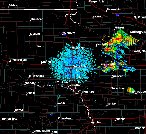 Radar Image for Severe Thunderstorms near Wanda, MN at 7/11/2020 2:01 PM CDT