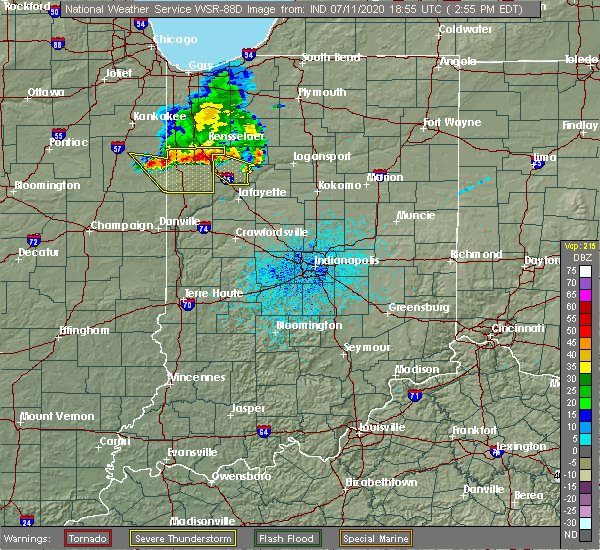 Radar Image for Severe Thunderstorms near Monticello, IN at 7/11/2020 3:02 PM EDT