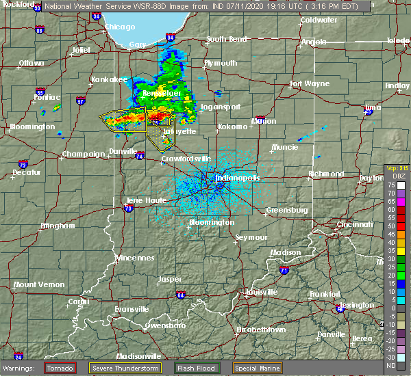Radar Image for Severe Thunderstorms near Monticello, IN at 7/11/2020 3:22 PM EDT