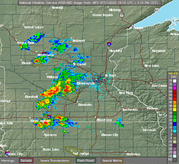 Radar Image for Severe Thunderstorms near Nicollet, MN at 7/11/2020 2:26 PM CDT