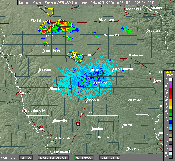 Radar Image for Severe Thunderstorms near Lehigh, IA at 7/11/2020 2:29 PM CDT