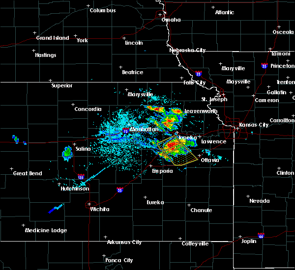 Radar Image for Severe Thunderstorms near Overbrook, KS at 7/11/2020 2:34 PM CDT