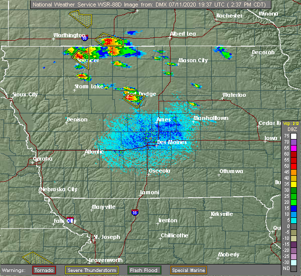 Radar Image for Severe Thunderstorms near Lehigh, IA at 7/11/2020 2:39 PM CDT