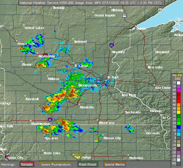 Radar Image for Severe Thunderstorms near Searles, MN at 7/11/2020 2:45 PM CDT