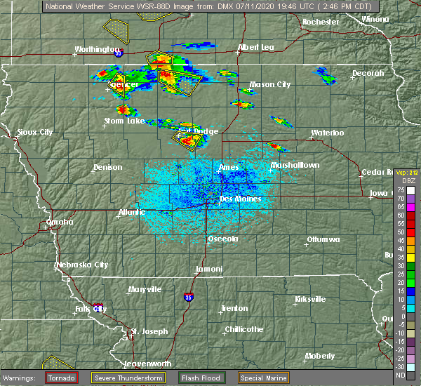 Radar Image for Severe Thunderstorms near Rodman, IA at 7/11/2020 2:51 PM CDT
