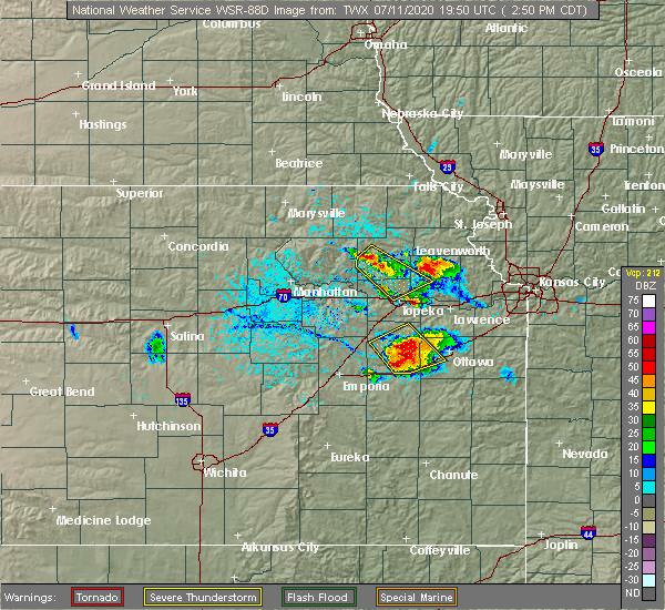 Radar Image for Severe Thunderstorms near Harris, KS at 7/11/2020 2:56 PM CDT
