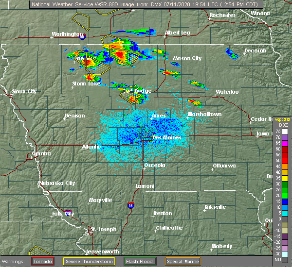 Radar Image for Severe Thunderstorms near Lehigh, IA at 7/11/2020 2:59 PM CDT