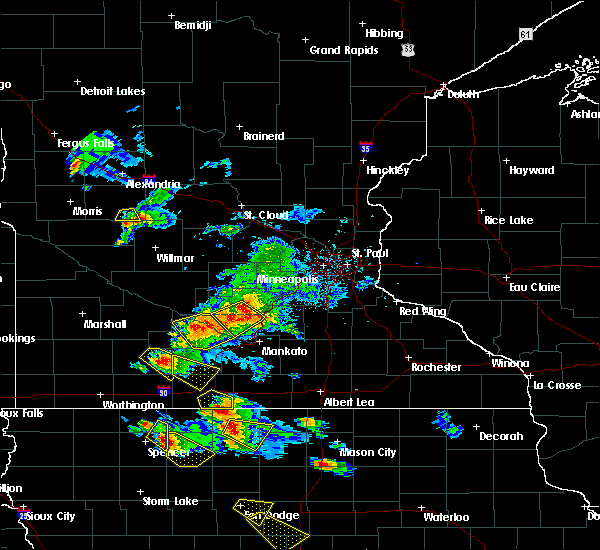 Radar Image for Severe Thunderstorms near St. James, MN at 7/11/2020 3:00 PM CDT