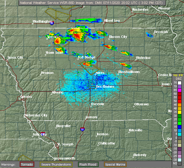 Radar Image for Severe Thunderstorms near Rodman, IA at 7/11/2020 3:07 PM CDT